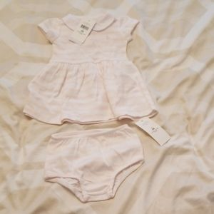 NWT Ralph Lauren Striped Baby Girl Dress size 3M